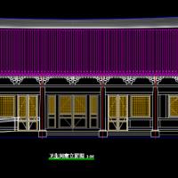 仿古公共厕所建筑设计CAD图纸
