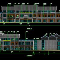 仿古商业街建筑全套施工图