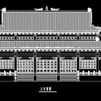 某钢筋混凝土仿古大殿全套施工图纸
