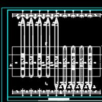 某公路收费棚及收费岛详细设计CAD图纸