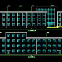 2393平米三层框架结构办公楼建筑设计施工图纸