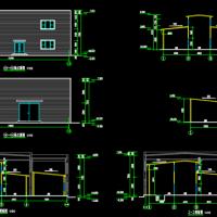 建筑物内新做彩板房建筑设计图纸
