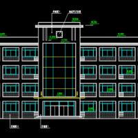 3264平米四层框架结构综合楼建筑施工图纸