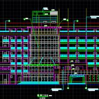 4479平米六层框架结构水利局办公大楼建筑设计图
