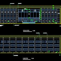 7990平米三层框架结构办公楼建筑施工图