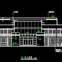 1364平米三层框架结构办公楼建筑施工图