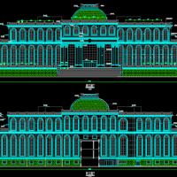 某欧式建筑设计CAD方案图(立面漂亮)