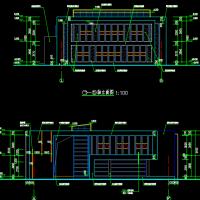956平米某小区二层框架结构会所建筑方案图