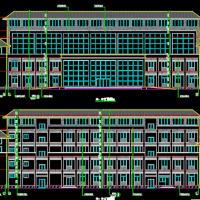 某酒厂三层综合办公楼建筑设计方案(工字型)
