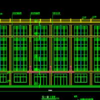 5536平米五层框架结构综合楼建筑设计施工图纸