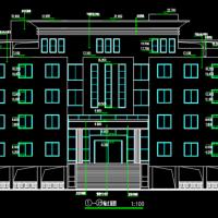 湖南3655平米五层办公楼建筑设计CAD图纸