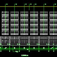 9314平米7层框架结构办公楼建筑及结构设计全套图