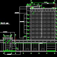 高层银行办公楼施工图设计CAD图纸(带人防)