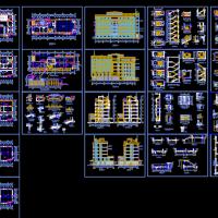 某地六层办公楼建筑施工CAD图