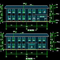 两层框架结构食堂建筑及结构设计全套图纸