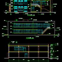某学校1354平米两层框架结构食堂建筑设计图纸