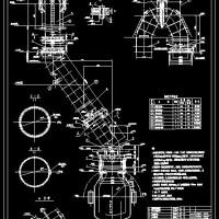 60吨转炉汽化烟道总图及部件图