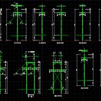 10KV电线杆初步设计CAD图