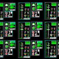 35KV单回与10双回路直线塔钢管塔图