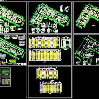 6786平米七层L型住宅楼建筑设计图纸