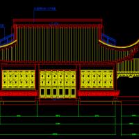 某仿古茶楼亭子建筑施工CAD图纸
