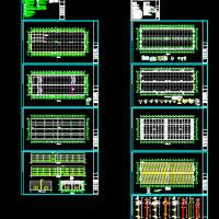 21X2双跨单层排架结构厂房建筑及结构全套施工图