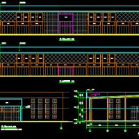7121平米家具广场展厅建筑设计方案图纸