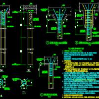 某厂房预应力混凝土空心管桩设计CAD图纸