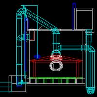 重力式无阀滤池三维图