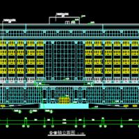 15162平米8层框架结构办公楼建筑设计施工图