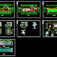 某工厂两层办公楼建筑施工图纸(单面布房)