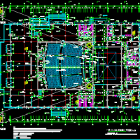 8282平小大型剧场建筑设计施工图纸