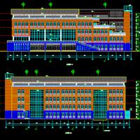 8814平米5层框架结构大学行政办公楼建筑设计图纸