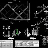 路堑边坡及路堤边坡拱型骨架防护设计图