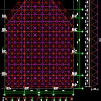 [山东]单层正放四角锥与螺栓球节点结构网架结构施工图