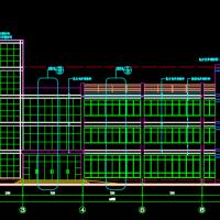 1980平米地上四层办公楼建筑详细CAD图纸