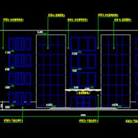 5183平米四层框架结构办公楼建筑CAD施工图纸