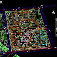 某居住区修建性详细规划cad图纸