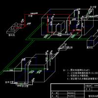 某办公楼中水回用工艺设计施工图(膜生物反应器)