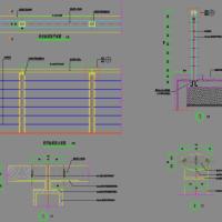 不锈钢木扶手景观栏杆设计施工图纸