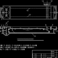 设有链带式刮泥机平流式沉淀池CAD图纸