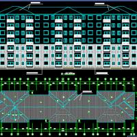 七层框架结构住宅楼建筑结构课程设计施工图纸