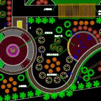 美丽乡村生态绿色小游园景观设计CAD施工图(2018经典设计)