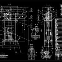60吨转炉氧枪横移定位装置全套图纸