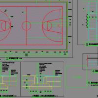 某标准篮球场平面设计CAD详图