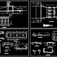 某3跨节制水闸设计图