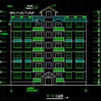 1817平一梯两户某市多层住宅CAD设计建施图