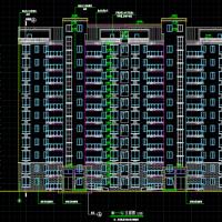 6059平米溧阳11层小高层住宅楼建筑设计图(一梯两户)