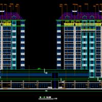带商业服务网点11层小高层住宅建筑图纸