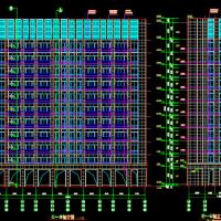 4942平米一梯两户11层住宅楼建筑图